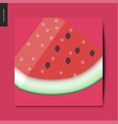 simple things - watermelon vector image