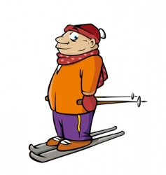 skier male vector image vector image