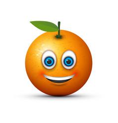 Smiling orange vector