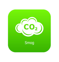 Smog icon green vector