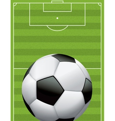 Soccer Ball Football and Field vector image