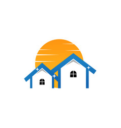 Sunny and clean real estate logo vector