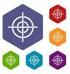 Target crosshair icons set vector