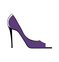 The shoe of frame vector image