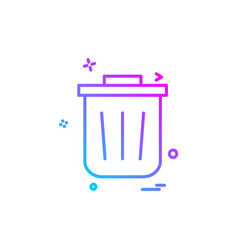 trash icon design vector image