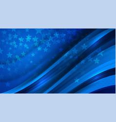 Usa blue star background vector