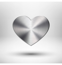 Valentiness Day Heart with Metal Texture vector image