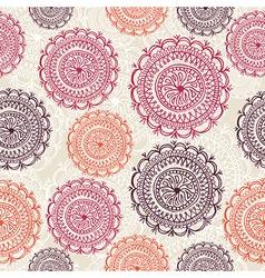 Vintage circle elements seamless pattern vector image