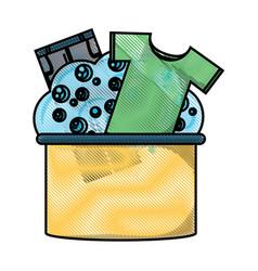washing clothes design vector image