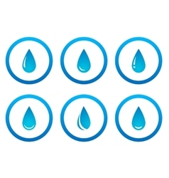 water drops in frame set vector image