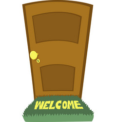 welcome carpet vector image