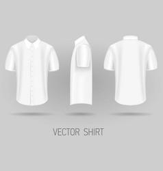 white short sleeve shirt design templates vector image