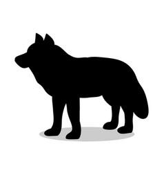 Wolf predator black silhouette animal vector