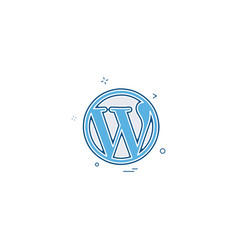 wordpress icon design vector image
