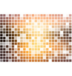 Yellow coral pink black occasional opacity mosaic vector