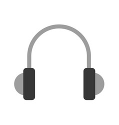 earphones device isolated icon vector image vector image