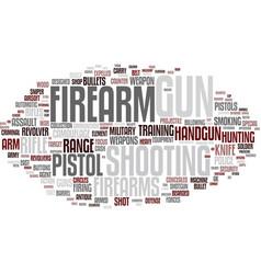 Firearms word cloud concept vector