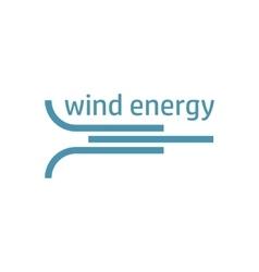 green energy logo wind flow vector image vector image