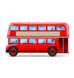 London bus isolated on white vector image vector image