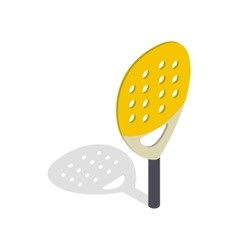 Paddle match racket isometric 3d style vector image vector image