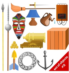 set of objects EPS10 vector image vector image