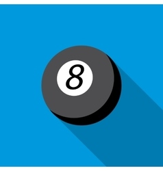Snooker 8 pool icon flat style vector image