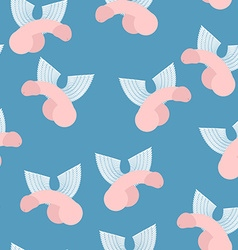 Winged penis seamless pattern background of dildos vector image vector image