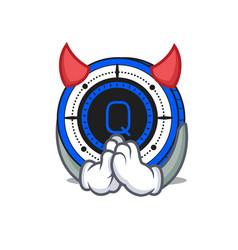 devil qash coin mascot cartoon vector image vector image