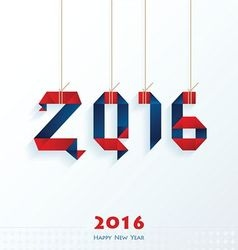 Happy New Year Card red and blue color vector image vector image