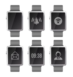 Smart Watch Set vector image vector image