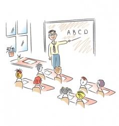 teacher in school vector image