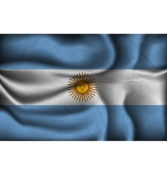crumpled flag of Argentina vector image vector image