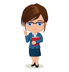 Cute cartoon of a teacher vector image vector image