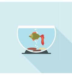 Digital fish in aquarium vector image