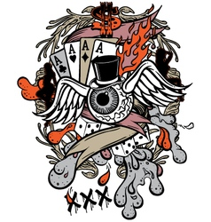 gambler tattoo vector image