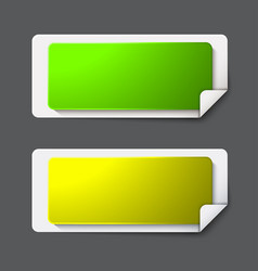 Modern banners set on gray background vector