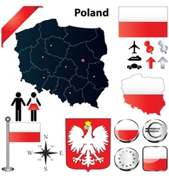 Poland map vector image vector image