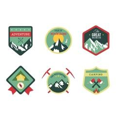Set of vintage woods camp badges and travel logo vector