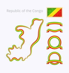 Colors of Republic of the Congo vector image