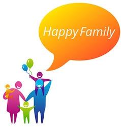 FamilyHappy vector image vector image