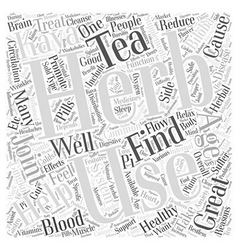 Herbs Helping with Healthy Aging Word Cloud vector image vector image
