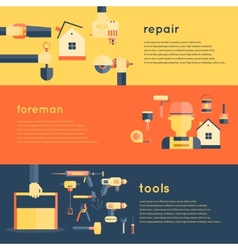 Home Repair Tools Banners vector image vector image