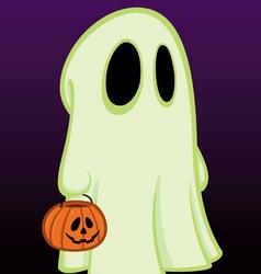 little halloween ghost vector image vector image