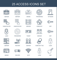25 access icons vector