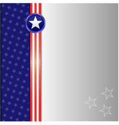 american flag symbol frame card vector image