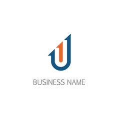 arrow business company logo vector image