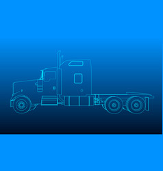 background with the outline of the truck without a vector image