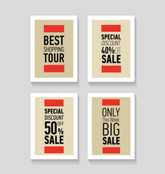 Best shopping tour special discount big sale vector