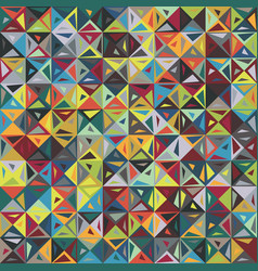 broken square shard triangle funky motif pattern vector image