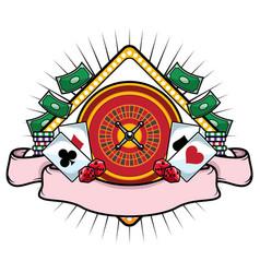 casino mascot symbol vector image